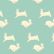 Rabbit in Cream & Sage