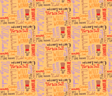 Visitors of the Chocolate Factory fabric by majoranthegeek on Spoonflower - custom fabric