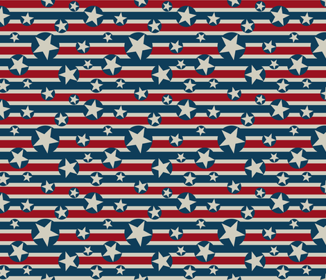 Stars N Stripes 9 fabric by digitallove on Spoonflower - custom fabric