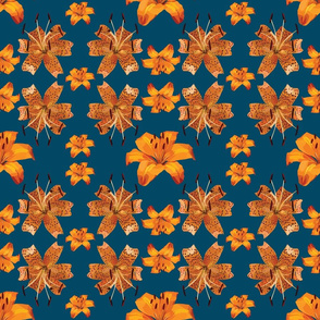 Orange Lillies Pattern