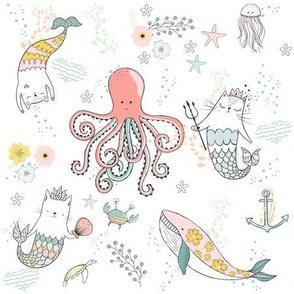 """9"""" Mermaid Cat Nautical Paradise"""