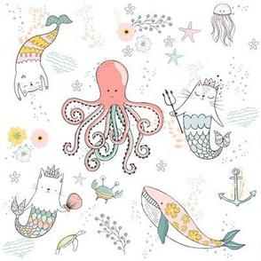 """8"""" Mermaid Cat Nautical Paradise"""
