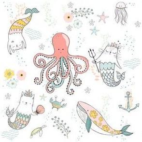"""6"""" Mermaid Cat Nautical Paradise"""