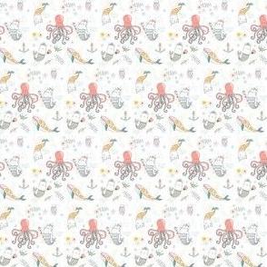 """1.5"""" Mermaid Cat Nautical Paradise"""