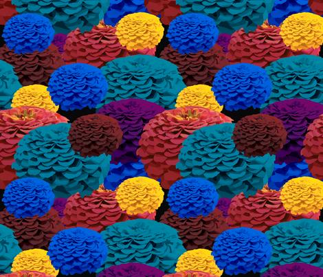 Multicolor zinnia collage fabric emi jenkens drake - Drake collage wallpaper ...