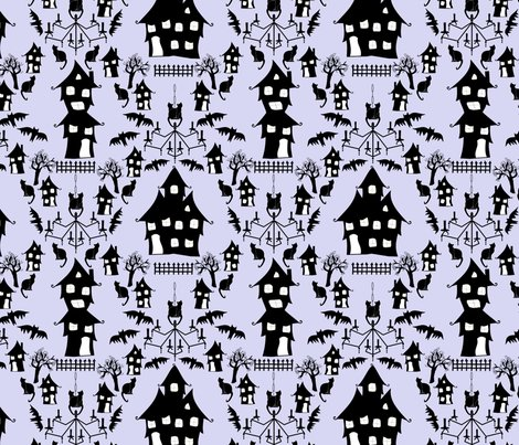 Haunted_house_damask_blue_shop_preview