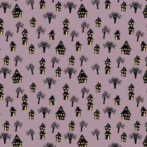 haunted town purple