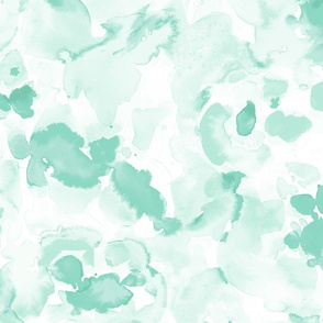 Abstract Flora Soft Green