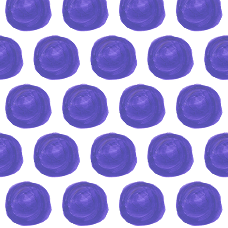 Purple Dots in Acrylics fabric by anniedeb on Spoonflower - custom fabric