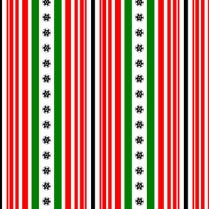 holiday stripe with snowflake