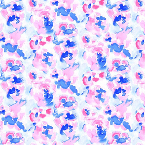 Abstract Flora Pink and Blue Small Scale