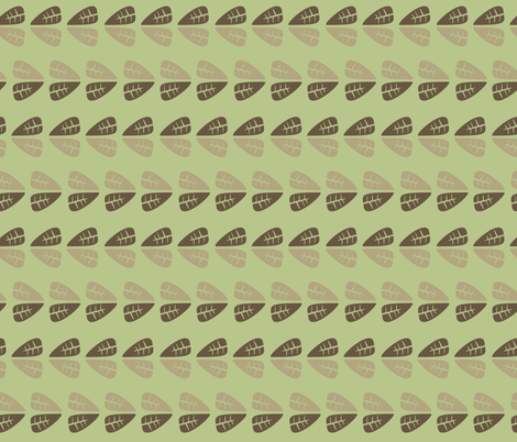 Brown and Green Leaves fabric by chunkycatt on Spoonflower - custom fabric