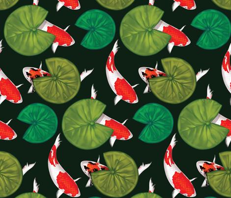 Koi Pond fabric by illseabass on Spoonflower - custom fabric