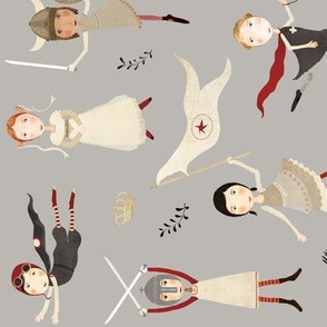 Heroines of history tea towel