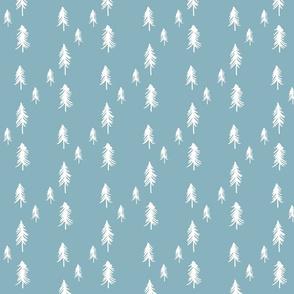 Pine trees (lots) blue