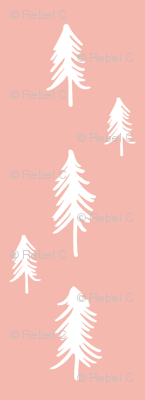 Pine trees (lots) - pink