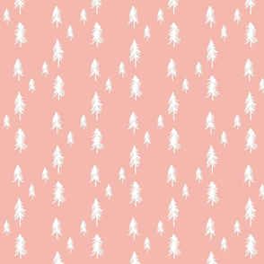 Pine trees (lots) - pink