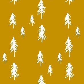 Pine Tree (lots) - mustard