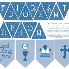 First Communion boy banners