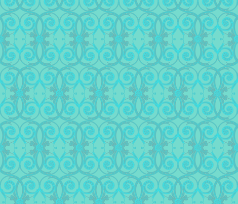 Blue Mist/teal fabric by ravens_spirit_song on Spoonflower - custom fabric