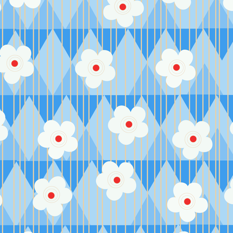 FLOWERY CLOUDS fabric by jimena_garcia on Spoonflower - custom fabric
