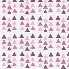 Triangles plum pattern