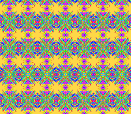 Boho Sunsparks Riding Rainbow Waves on Pineapple Passion - Medium Scale fabric by rhondadesigns on Spoonflower - custom fabric