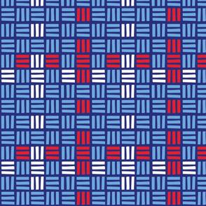 Basketweave  -Patriotic Flair