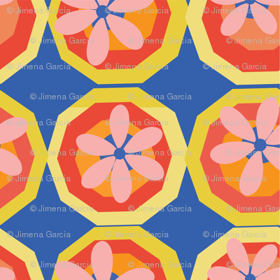 FLOWERS IN DECAGONS