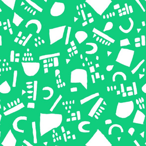 Fun Painted Geometric Green