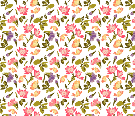 Blossoms fabric by dianaelkina on Spoonflower - custom fabric