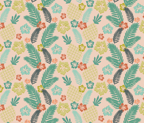 Tiki 4 fabric by digitallove on Spoonflower - custom fabric