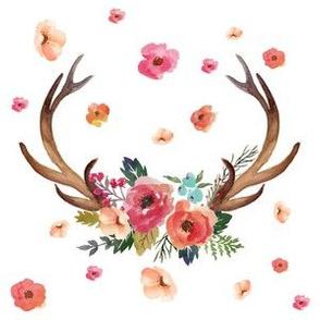 """6"""" Floral Deer"""