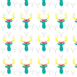 cream-floral-deer-8-x-11