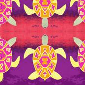 Caribbean-Sea Turtles /Purple