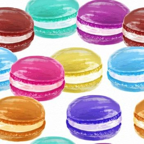 Watercolor Macarons