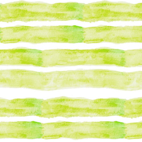 Large Watercolor Stripes // Chartreuse