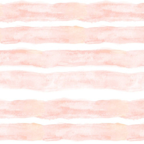 Large Watercolor Stripes // Peach