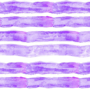 Large Watercolor Stripes // Violet