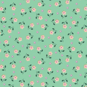 Wild Flowers* (Green Stamps) || flower floral nature garden leaves spring wildflowers ditsy pastel