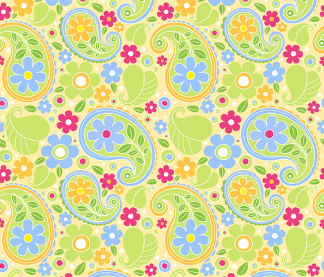 sunny day paisley fabric by laura_nikiel on Spoonflower - custom fabric