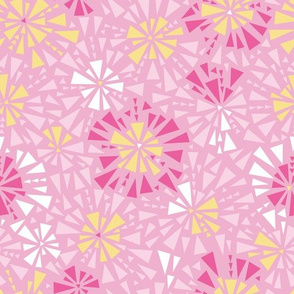Pink Yellow Mosaic Repeat Pattern