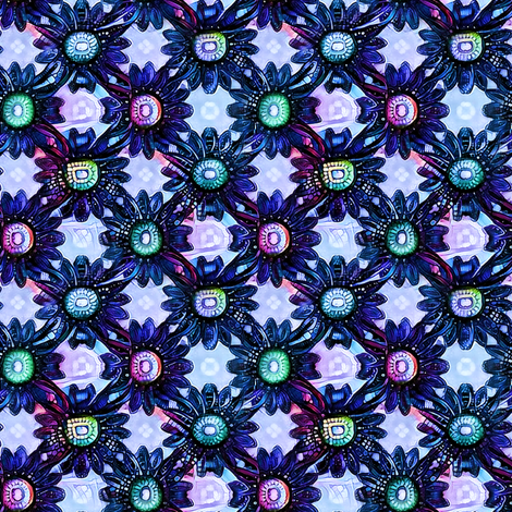 Art Deco Daisies fabric by whimsydesigns on Spoonflower - custom fabric