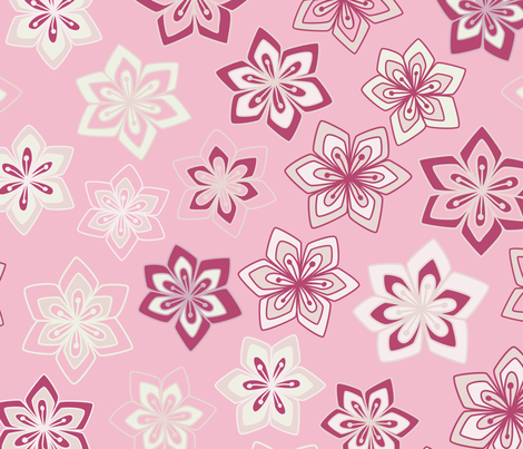 Diamond Flowers on Pink fabric by paula_ohreen_designs on Spoonflower - custom fabric