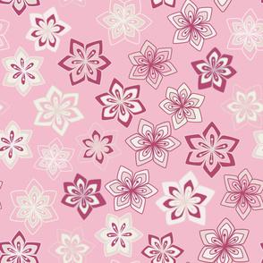 Diamond Flowers on Pink