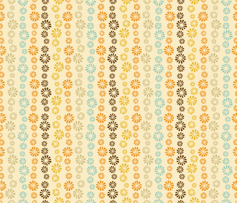Falling Flowers in  Cream fabric by paula_ohreen_designs on Spoonflower - custom fabric