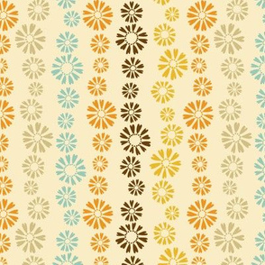 Falling Flowers in  Cream