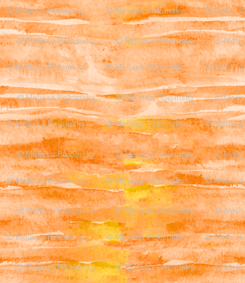 Sunset Yellow Orange Watercolor Faux Batik Quilting Solid