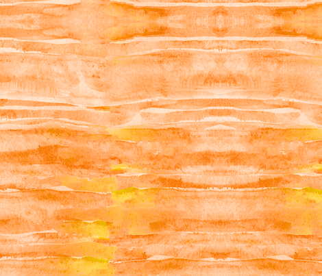 Sunset Yellow Orange Watercolor Faux Batik Quilting Solid  fabric by theartwerks on Spoonflower - custom fabric