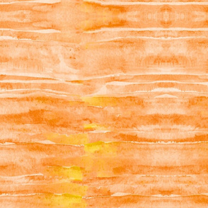 Sunset Yellow Orange Watercolor Faux Batik Quilting Solid
